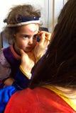 Mała dziewczynka ma twarz obraz Zdjęcia Royalty Free