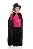 Mała dziewczynka magik robi magii Obrazy Stock