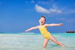 Mała dziewczynka na wakacje Obraz Royalty Free