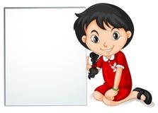 Mała dziewczynka od HongKong mienia znaka Zdjęcie Stock