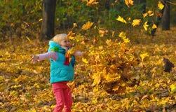 Mała Dziewczynka Outdoors Zdjęcia Stock