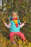 Mała Dziewczynka Outdoors Obrazy Royalty Free