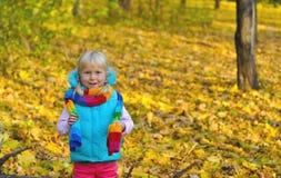 Mała Dziewczynka Outdoors Zdjęcie Royalty Free