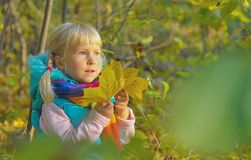 Mała Dziewczynka Outdoors Obraz Stock