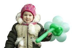 Mała dziewczynka patrzeje smutny w zim ubraniach Obrazy Royalty Free