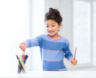 Mała dziewczynka rysunek Obraz Royalty Free