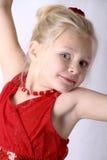 Mała dziewczynka taniec Zdjęcia Royalty Free