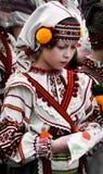 Mała dziewczynka w krajowym wydarzeniu Zdjęcia Stock