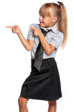 Mała dziewczynka w mundurek szkolny Obrazy Stock