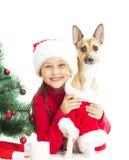 Mała dziewczynka w nowego roku kostiumu Obraz Royalty Free