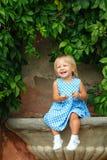 Mała dziewczynka w sukni Zdjęcie Royalty Free