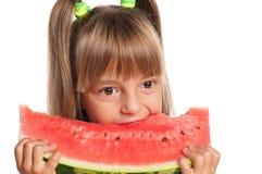 Mała dziewczynka z arbuzem Fotografia Stock