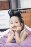 Mała dziewczynka z figlarka ucho Zdjęcie Stock