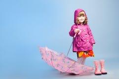 Mała dziewczynka z parasolem Fotografia Stock