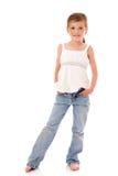 mała dziewczyny pozycja Obrazy Stock