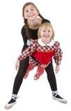 małe akrobata dziewczyny Zdjęcia Stock