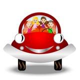 Małe dziecko w czerwonym samochodzie ilustracji