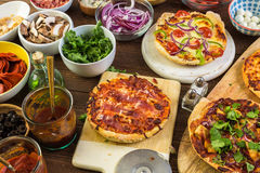 Małe Pizze Fotografia Stock