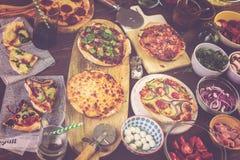 Małe Pizze Fotografia Royalty Free