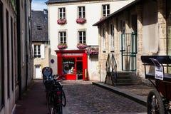 Małe ulicy Bayeux zdjęcia stock