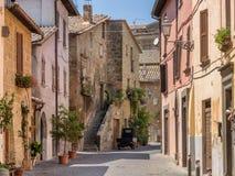Małe ulicy w Orvieto w Umbria Fotografia Stock