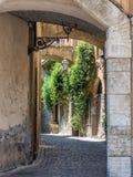 Małe ulicy w Orvieto w Umbria Obrazy Royalty Free