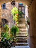 Małe ulicy w Orvieto w Umbria Obraz Royalty Free
