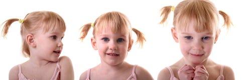 małe warkocze dziewczyn Obraz Stock
