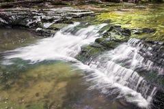 małe wodospadów lasu Obrazy Royalty Free