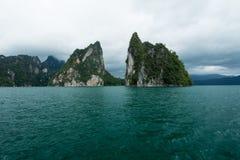 Małe wyspy na horyzontalnym Obraz Royalty Free