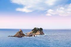 Małe wyspy w Adriatyckim morzu. Montenegro Zdjęcie Stock