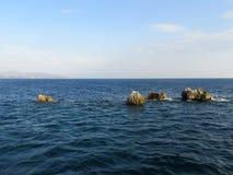 Małe wyspy w Ionian morzu Zdjęcie Stock