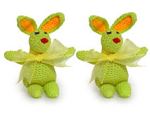 małe zielone króliki ozdobnych Zdjęcia Stock