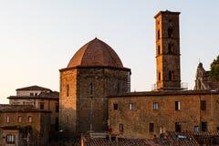 małego zmierzchu grodzki Tuscany volterra Obrazy Royalty Free