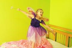 Małej dziewczynki czarodziejka Fotografia Stock