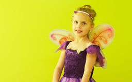 Małej dziewczynki czarodziejka Fotografia Royalty Free