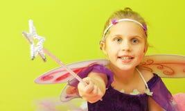 Małej dziewczynki czarodziejka Zdjęcie Royalty Free