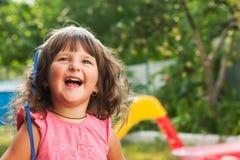 Małej dziewczynki ja target332_0_ obrazy stock