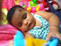 Małej Dziewczynki królowa Zabawkarski królestwo Zdjęcie Stock