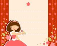 Małej Dziewczynki rama ilustracja wektor