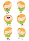 mała emoci dziewczyna royalty ilustracja