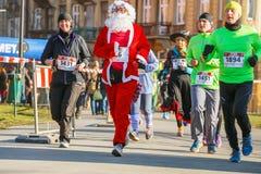 12ma Eve Race del Año Nuevo en Kraków Fotos de archivo libres de regalías