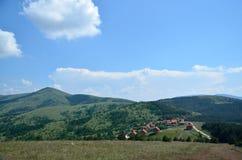 Mała górska wioska Fotografia Stock