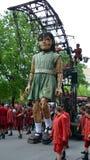 Mała gigantyczna dziewczyna Fotografia Royalty Free