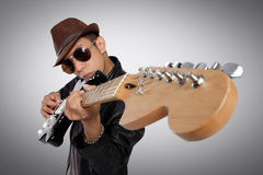 Ma guitare, mon arme image libre de droits