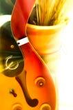 Ma guitare rêvante Photo stock