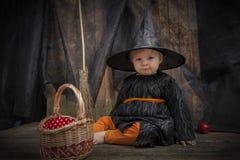 Mała Halloween czarownica Zdjęcie Royalty Free