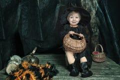 Mała Halloween czarownica Obraz Stock