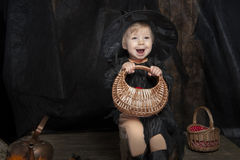 Mała Halloween czarownica Fotografia Royalty Free