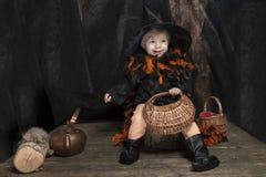 Mała Halloween czarownica Obraz Royalty Free